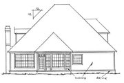 Traditional Style House Plan - 4 Beds 3 Baths 2362 Sq/Ft Plan #20-324 Exterior - Rear Elevation
