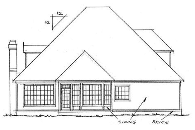 Traditional Exterior - Rear Elevation Plan #20-324 - Houseplans.com