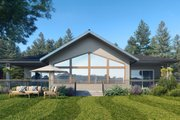Traditional Style House Plan - 3 Beds 2 Baths 2002 Sq/Ft Plan #1066-122 Exterior - Rear Elevation