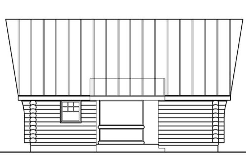 Log Exterior - Rear Elevation Plan #124-390 - Houseplans.com