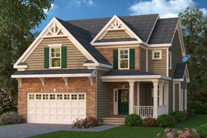 Craftsman Exterior - Front Elevation Plan #419-197