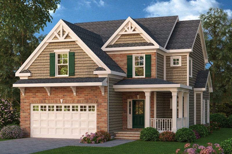Craftsman Exterior - Front Elevation Plan #419-197 - Houseplans.com