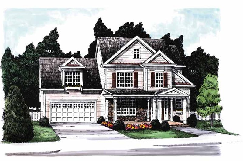 Country Exterior - Front Elevation Plan #927-568