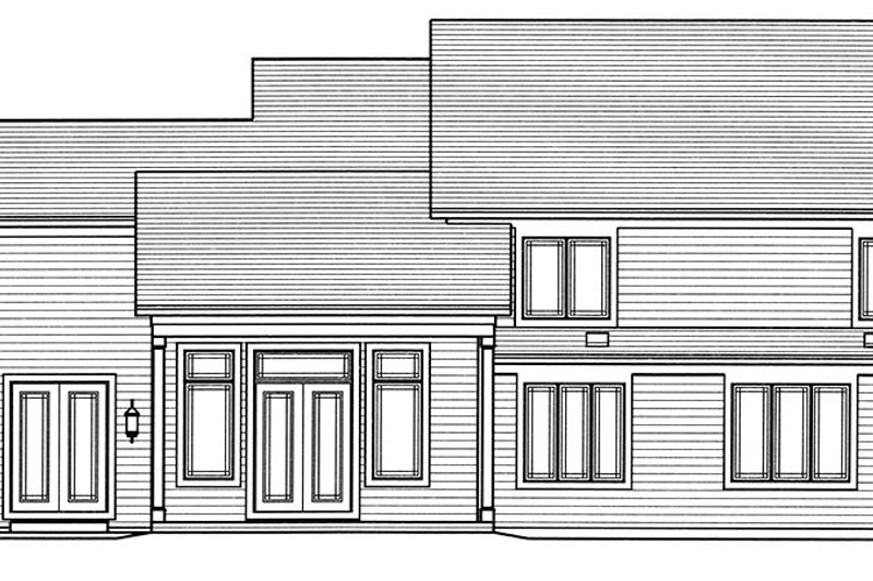 Craftsman Exterior - Rear Elevation Plan #46-859 - Houseplans.com