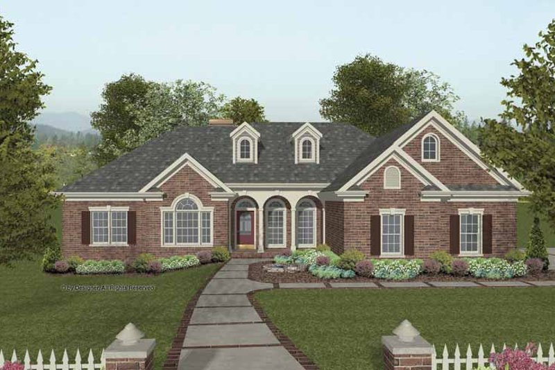 Traditional Exterior - Front Elevation Plan #56-686 - Houseplans.com