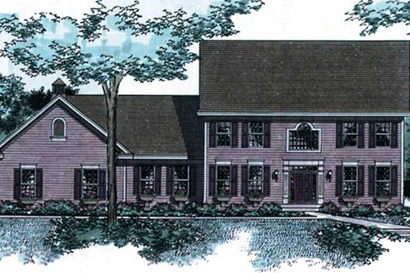 Classical Exterior - Front Elevation Plan #51-953