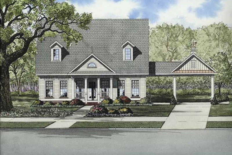 Country Exterior - Front Elevation Plan #17-2867