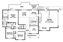Country Floor Plan - Main Floor Plan Plan #124-1059