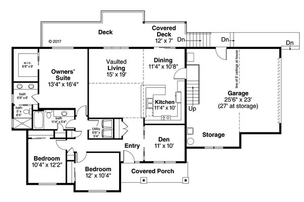 House Plan Design - Country Floor Plan - Main Floor Plan #124-1059