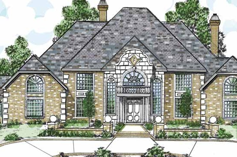 Traditional Exterior - Front Elevation Plan #52-268 - Houseplans.com