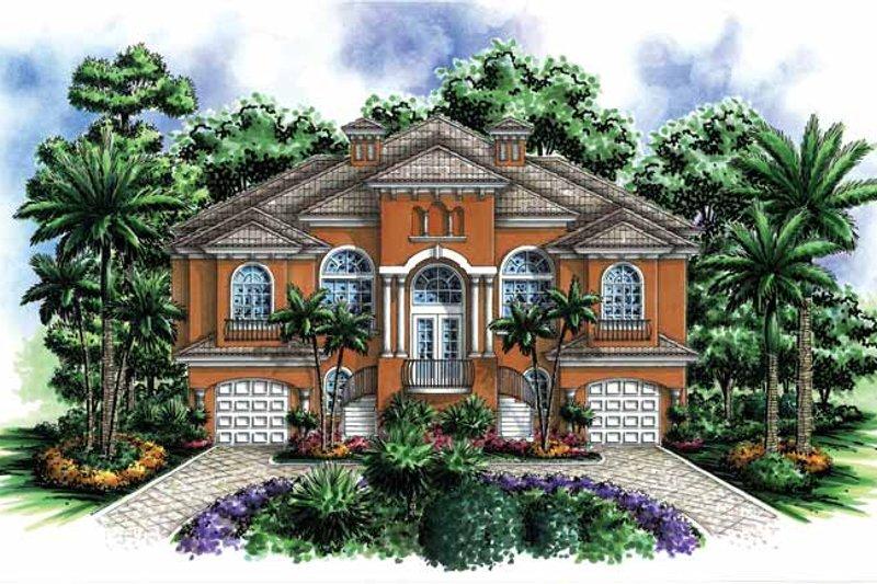 Dream House Plan - Mediterranean Exterior - Front Elevation Plan #1017-125