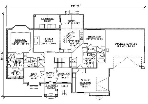 House Plan Design - Traditional Floor Plan - Main Floor Plan #5-292