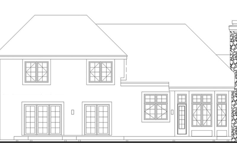 Traditional Exterior - Rear Elevation Plan #320-528 - Houseplans.com