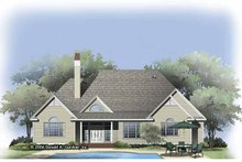 Architectural House Design - Traditional Exterior - Rear Elevation Plan #929-792