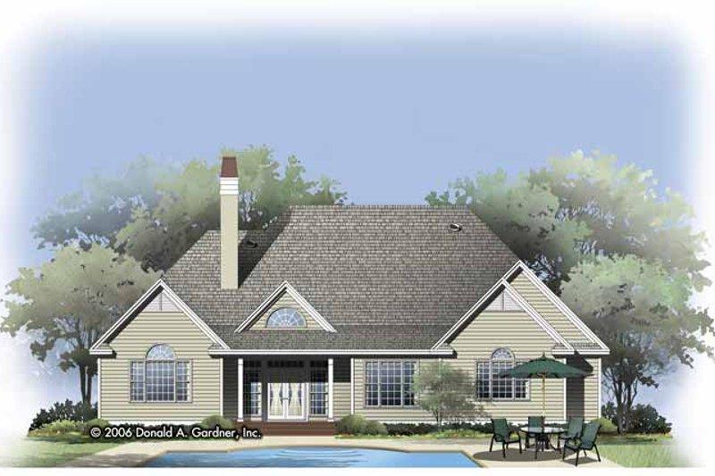 Traditional Exterior - Rear Elevation Plan #929-792 - Houseplans.com