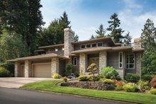 House Plan Design - Prairie Exterior - Front Elevation Plan #48-747