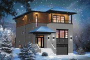 Contemporary Style House Plan - 3 Beds 2 Baths 1883 Sq/Ft Plan #23-2584 Exterior - Front Elevation