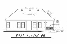 Architectural House Design - Country Exterior - Rear Elevation Plan #20-2226