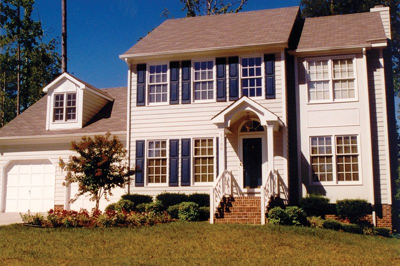 Architectural House Design - Colonial Exterior - Front Elevation Plan #1053-66