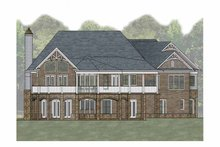 Craftsman Exterior - Rear Elevation Plan #54-366