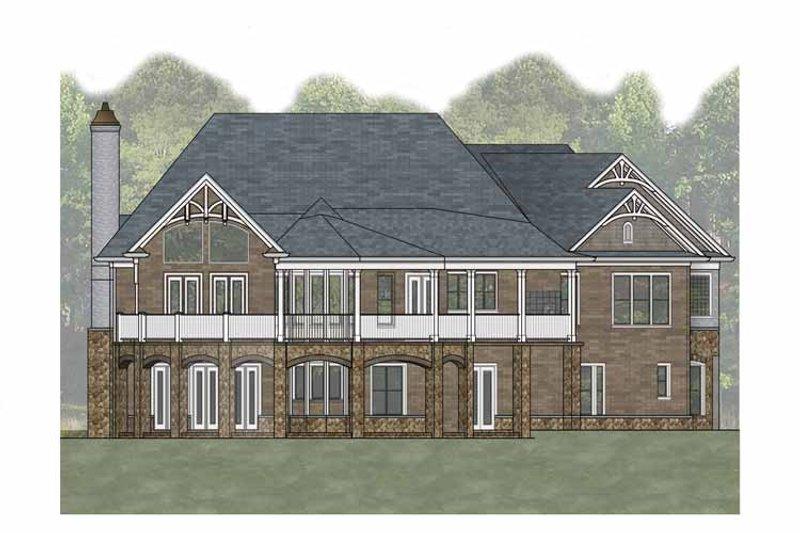 Craftsman Exterior - Rear Elevation Plan #54-366 - Houseplans.com