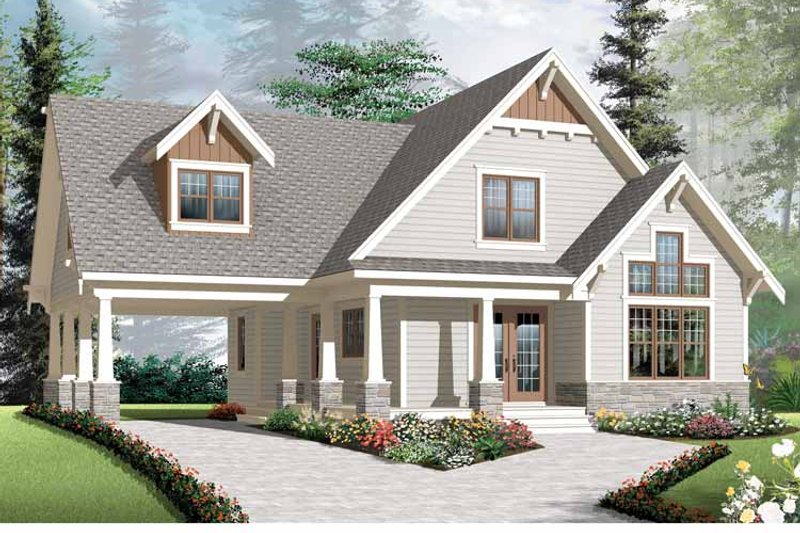 Traditional Exterior - Front Elevation Plan #23-2546 - Houseplans.com