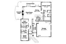 Prairie Floor Plan - Main Floor Plan Plan #124-946