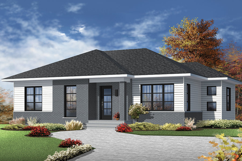 Ranch Style House Plan - 2 Beds 1 Baths 1133 Sq/Ft Plan #23-2617 Exterior - Front Elevation