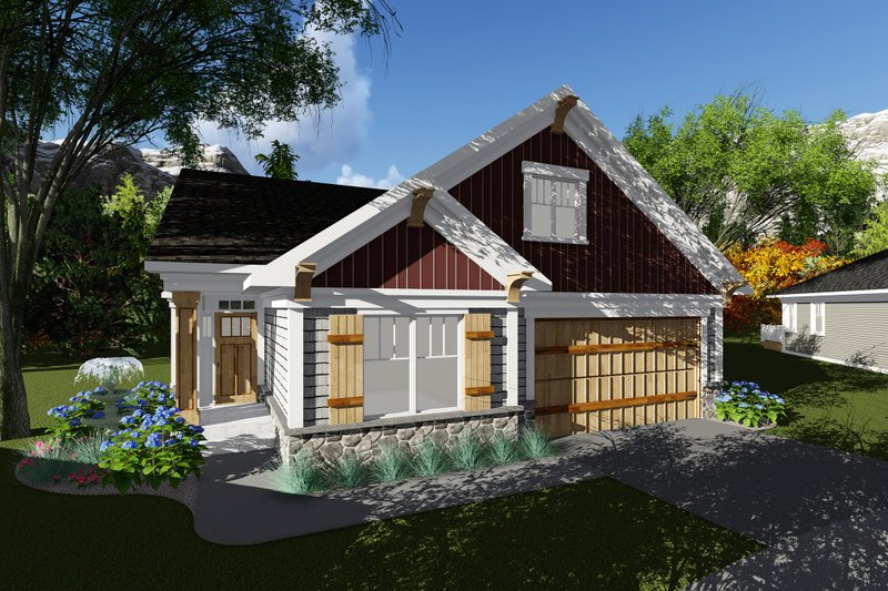 Dream House Plan - Craftsman Exterior - Front Elevation Plan #70-1262