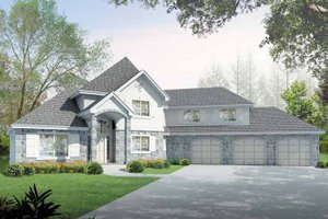 Dream House Plan - European Exterior - Front Elevation Plan #1037-11