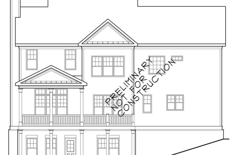 Traditional Exterior - Rear Elevation Plan #927-940 - Houseplans.com