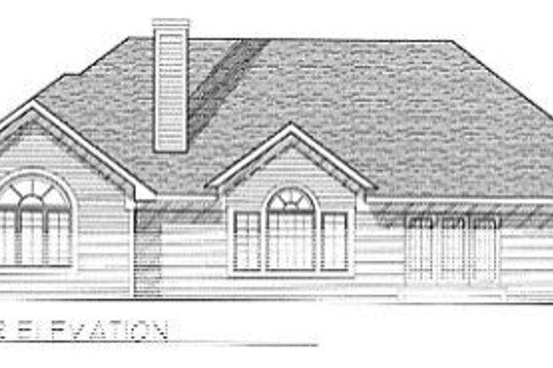 Traditional Exterior - Rear Elevation Plan #70-321 - Houseplans.com