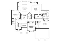 European Floor Plan - Upper Floor Plan Plan #56-602