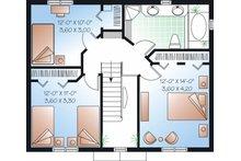Colonial Floor Plan - Upper Floor Plan Plan #23-736