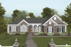 Craftsman Exterior - Front Elevation Plan #56-689