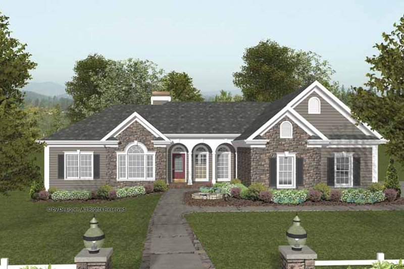 House Design - Craftsman Exterior - Front Elevation Plan #56-689