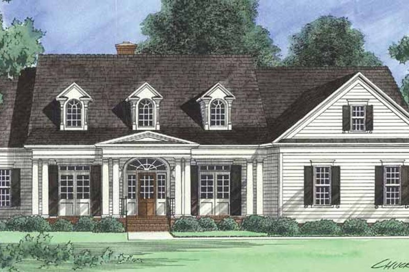 Architectural House Design - Country Exterior - Front Elevation Plan #1054-17