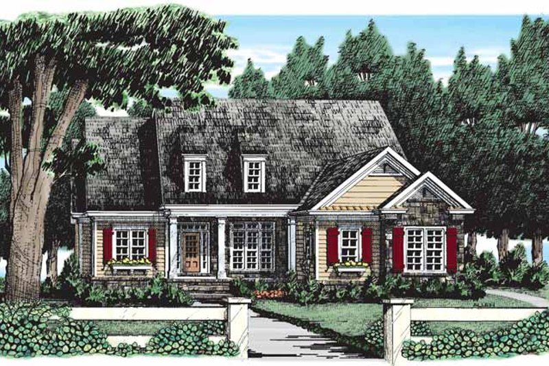 House Plan Design - Country Exterior - Front Elevation Plan #927-262