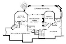 Craftsman Floor Plan - Lower Floor Plan Plan #453-633