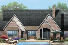 European Exterior - Rear Elevation Plan #929-956