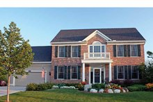 Architectural House Design - Colonial Exterior - Front Elevation Plan #51-1090