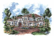 Home Plan - Mediterranean Exterior - Front Elevation Plan #1017-76