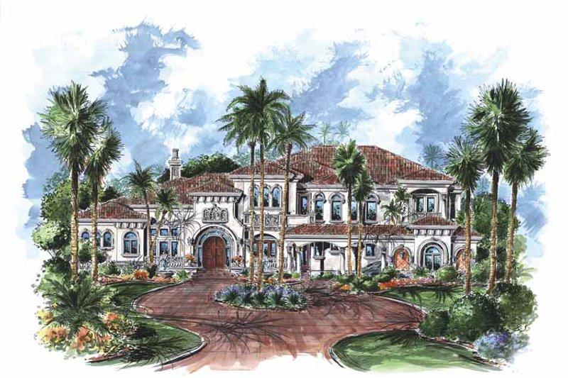Dream House Plan - Mediterranean Exterior - Front Elevation Plan #1017-76