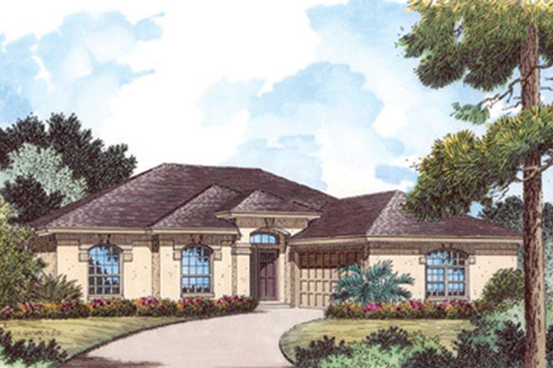 Architectural House Design - Mediterranean Exterior - Front Elevation Plan #417-801