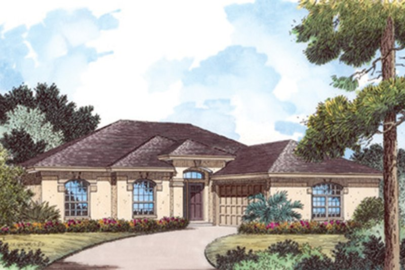 House Plan Design - Mediterranean Exterior - Front Elevation Plan #417-801