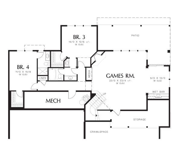 Prairie Floor Plan - Lower Floor Plan Plan #48-605