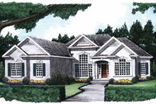 Home Plan - Mediterranean Exterior - Front Elevation Plan #927-216