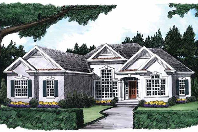 House Plan Design - Mediterranean Exterior - Front Elevation Plan #927-216