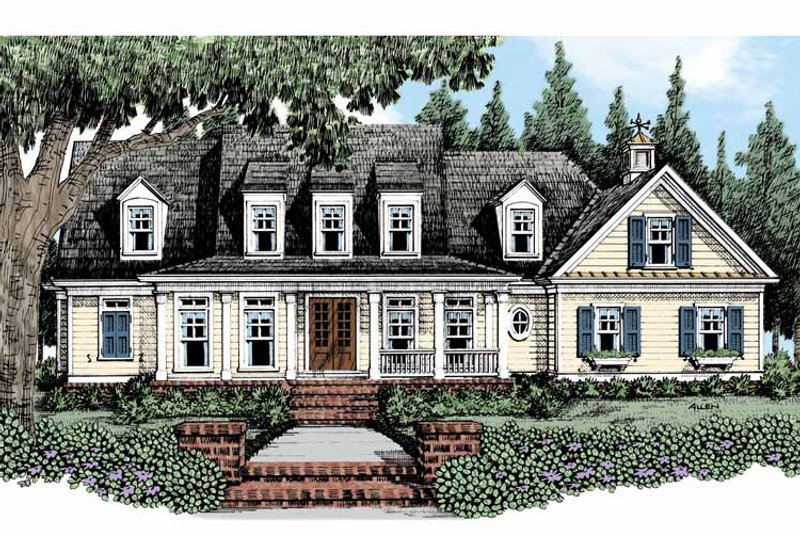 Traditional Exterior - Front Elevation Plan #927-482 - Houseplans.com