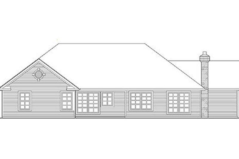 Traditional Exterior - Rear Elevation Plan #48-418 - Houseplans.com